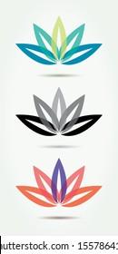 Vector lotus symbols.