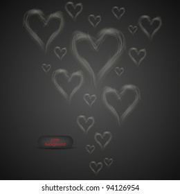 Vector love abstract background