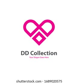 Vector love logo design. editable file in eps,10