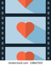 vector love movie, concept illustration