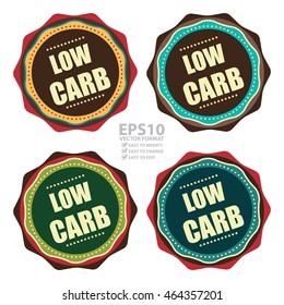 Vector : Low Carb Product Information Infographics Icon or Label