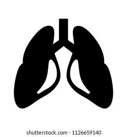 vector lungs illustration isolated - human body organ. biology symbol