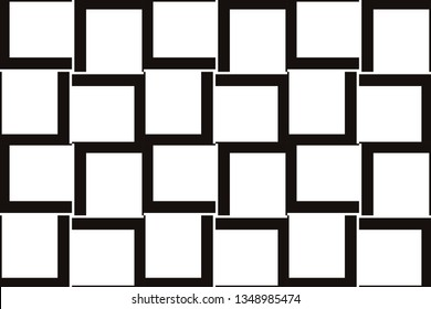 Vector luxury abstract background. Black and white geometric seamless pattern in modern stylish.