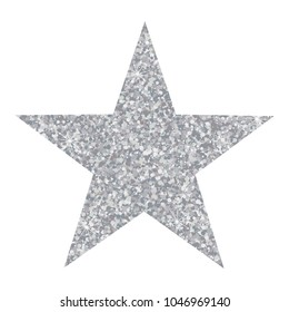 Vector luxury silver star. Element for advertising poster for restaurant, boutique and cafe, jewelry, fashion and party.
