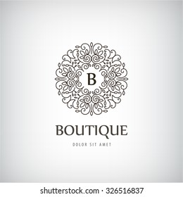 Vector Luxury Vintage logo, icon. Business sign, identity for Restaurant, Royalty, Boutique,  Hotel, Heraldic logo, Jewellery, Fashion ,Real estate, Lion, Resort , king, tattoo, Auctions