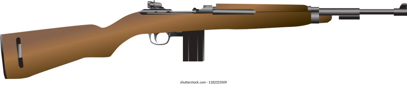 Vector - M1 Carbine Of USA WW2 Gun