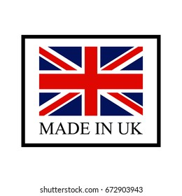 Vector made in UK sign