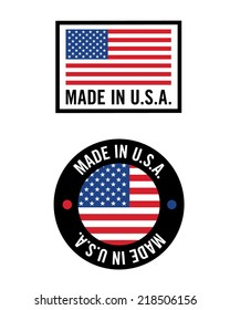 Vector 'Made in USA' icon and logo set