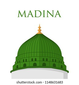 vector of Madina iconic Nabawi Mosque