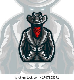 Vector Mafia Boss mascot illustration