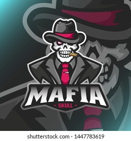 Vector Mafia Boss mascot for teammate logo