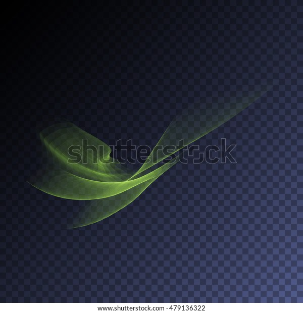 Vector magic glowing swirl trail transparent light effect. Bright shine wavy element for your design.