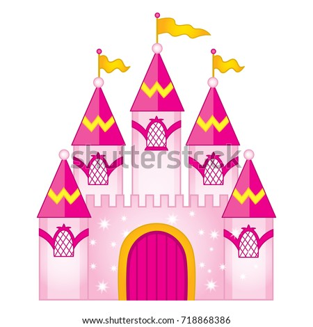 vector magic princess castle vector fairytale のベクター画像素材