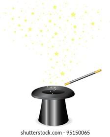 Vector - Magic wand and Hat