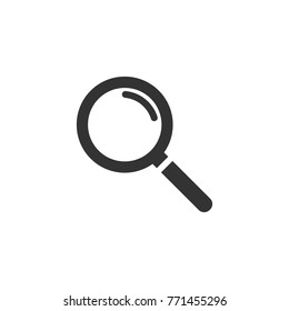 Vector magnifying glass icon with reflection