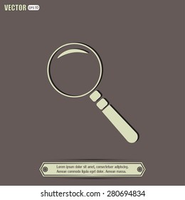 Vector magnifying glass search icon