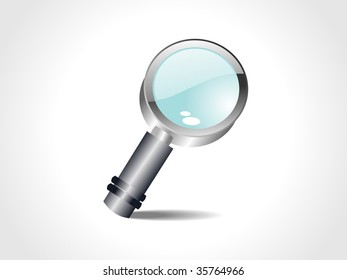 vector magnifying glass without mesh with white background