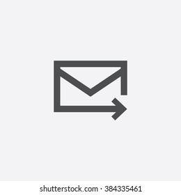 Vector mail arrow Icon