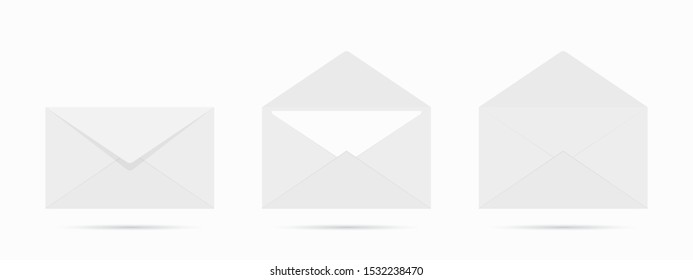 Vector mail envelope on white background - Shutterstock ID 1532238470