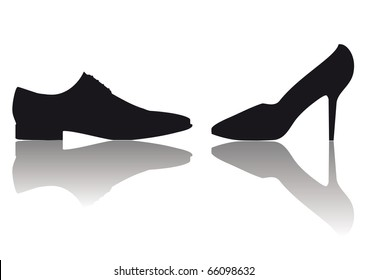 vector male and female shoes symbol