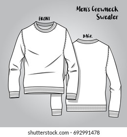 Vector Male Knitwear Crew Neck Scheme