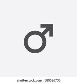 Vector male symbol Icon.