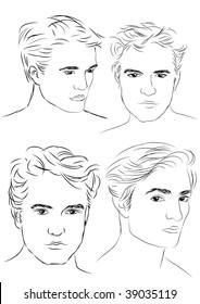 vector man portraits