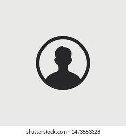 Vector man profile icon. Avatar picture.