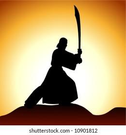 Vector man with sword