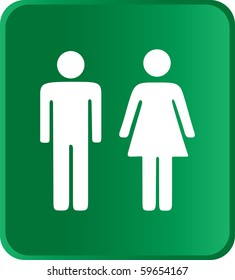 Vector Man & Woman icon over green background