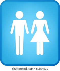 Vector Man & Woman icon over blue background