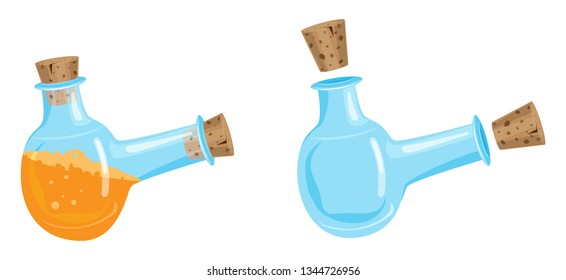 Vector mana magic potion, great design for any purposes. Isolated vector sign symbol. Vector design concept.
