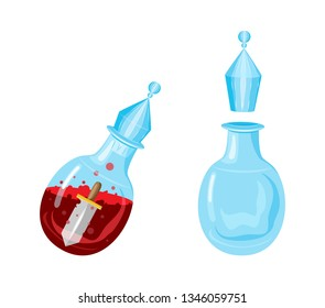 Vector mana magic potion, great design for create games. Isolated vector sign symbol. Vector design concept.