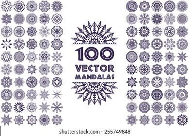Vector mandala collection. Vintage decorative elements. Hand drawn background. Islam, Arabic, Indian, ottoman motifs.