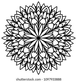 Laser Cutting Mandala Vector Flower Coloring Stock Vector Royalty