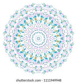 Vector mandala, Floral mandala. Oriental mandala. Vintage decorative elements. Vector illustration. It is super brilliant vector illustration.