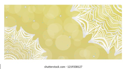 Vector Mandala Pattern for Template, Flyer or Invitation Card