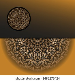 Vector Mandala template pattern on color background for card, poster, flyer, invitation etc.
