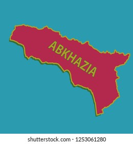 vector map of the Abkhazia. map design and Abkhazia. countries map.