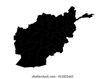 vector map - Afghanistan