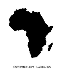 Vector map of Africa continent.