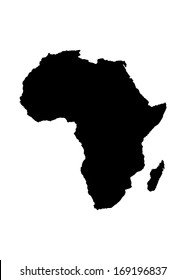 Vector Map of Africa isolated on white background.