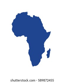 vector map - africa on white background