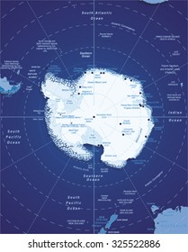 Vector Map of Antarctica
