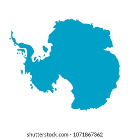 Vector  map Antarctica. icon. Isolated vector Illustration.  EPS 10
