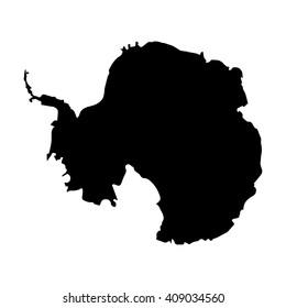 Vector map Antarctica. Isolated vector Illustration. Black on White background. EPS 8 Illustration.