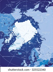 Vector Map of Arctic