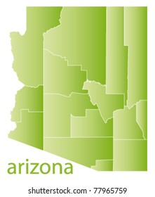 vector map of arizona state