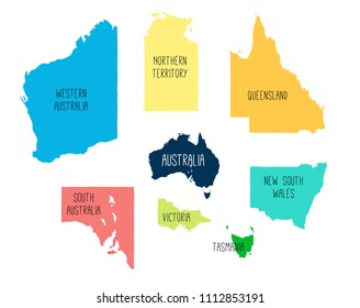 States Of Australia Map.Australian States Icons Images Stock Photos Vectors Shutterstock