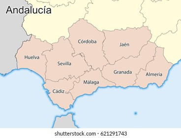 Andalusia Map Images Stock Photos Vectors Shutterstock
